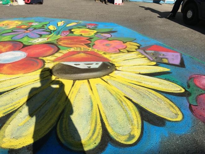 Streetart Kreidemalerei